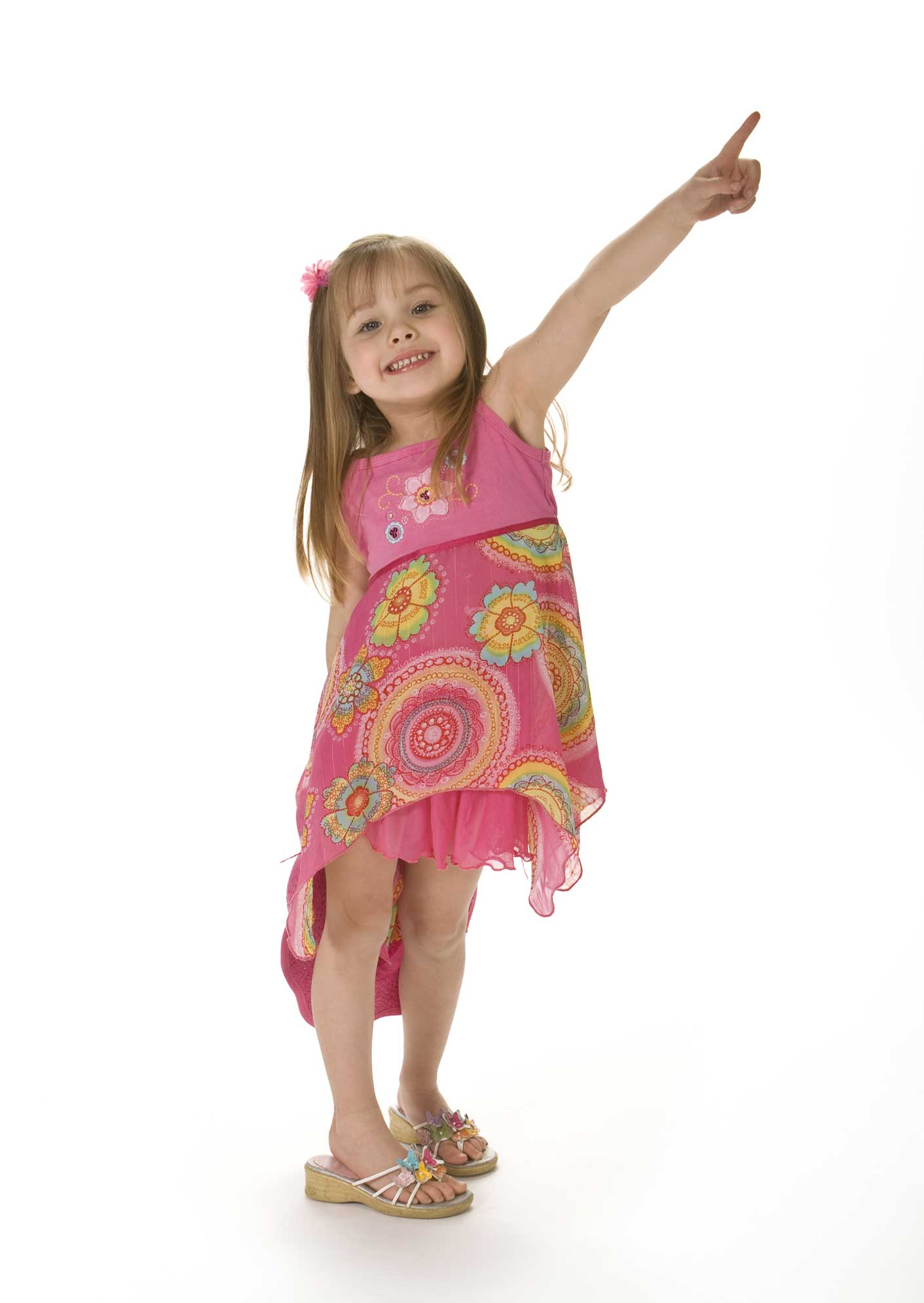 Four-Year-Old-Girl-Pointing